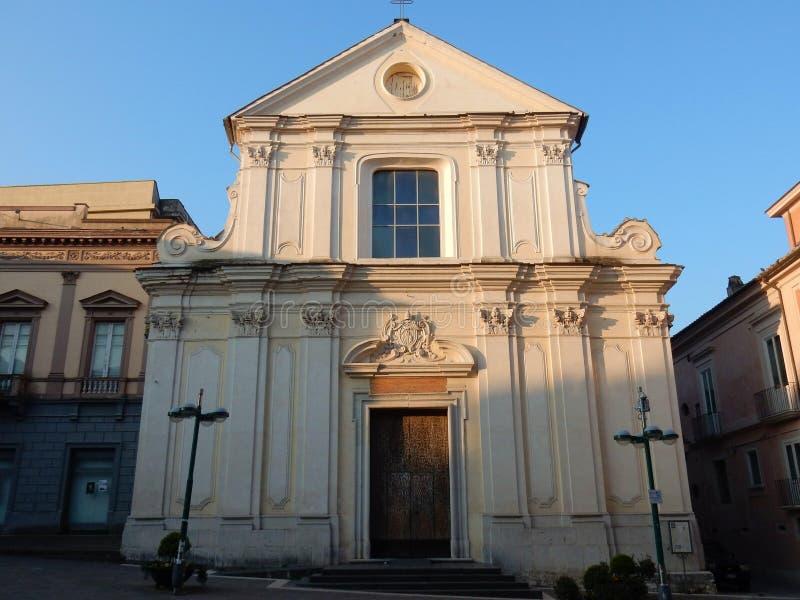 Benevento - iglesia de San Bartolomé foto de archivo libre de regalías