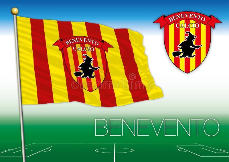 BENEVENTO, ITALIA, ANNO 2017 - campionato di calcio di Serie A, bandiera 2017 del gruppo di Benevento