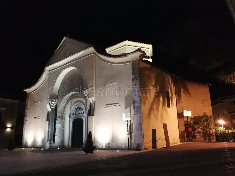 Benevento - Kerk van Santa Sofia stock afbeeldingen