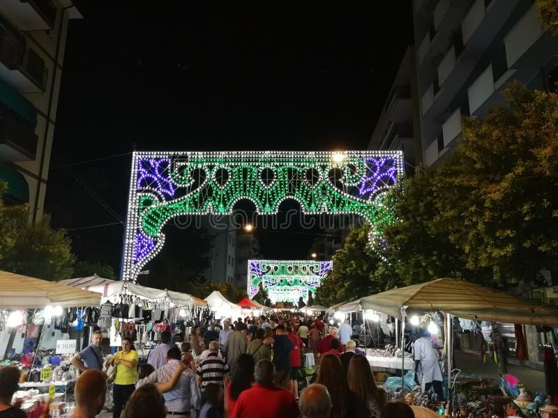 Benevento - ojeada del festival sagrado del corazón imágenes de archivo libres de regalías