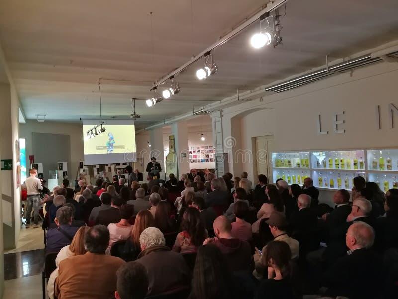 Benevento - presentación de un libro imagen de archivo