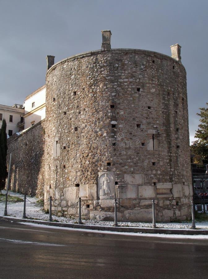 Benevento, Torre - De Simone z śniegiem obraz royalty free