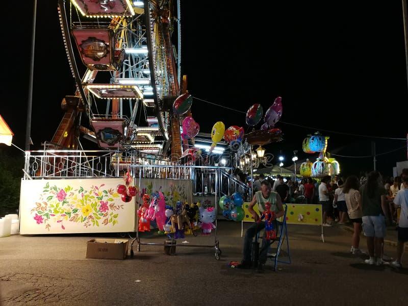 Benevento - Verkoper van ballons royalty-vrije stock fotografie