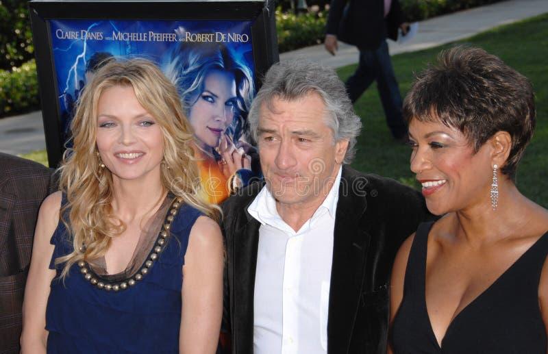 Benevolência Hightower, Michelle Pfeiffer, Robert De Niro imagens de stock