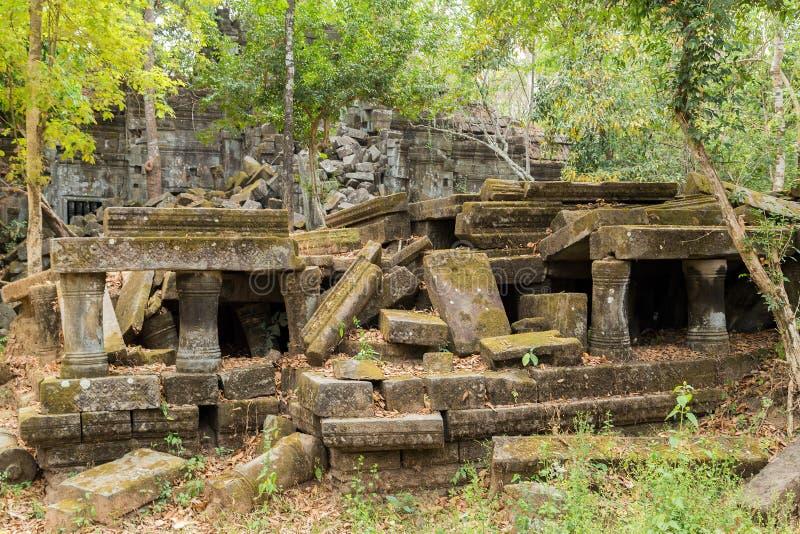 Beng Mealea świątynia, Angkor, Kambodża obrazy stock