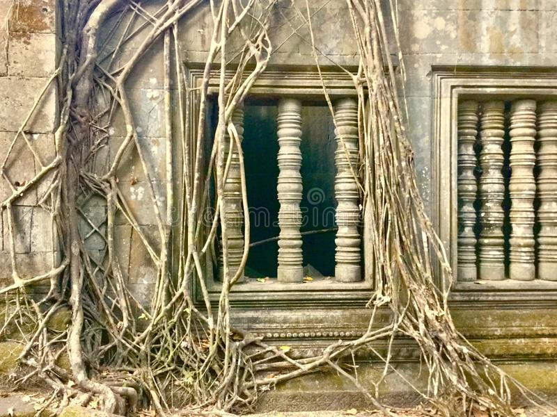 Beng Mealea - Angkor Temple, Cambodia. Beng Mealea or Bung Mealea is a temple in the Angkor Wat period located 40 km east of the main group of temples at Angkor stock photo