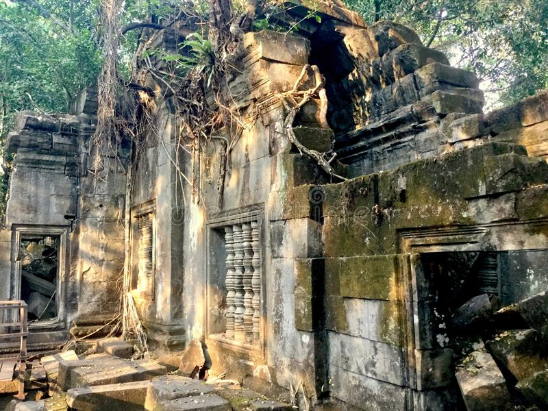 Beng Mealea - Angkor Temple, Cambodia. Beng Mealea or Bung Mealea is a temple in the Angkor Wat period located 40 km east of the main group of temples at Angkor royalty free stock image