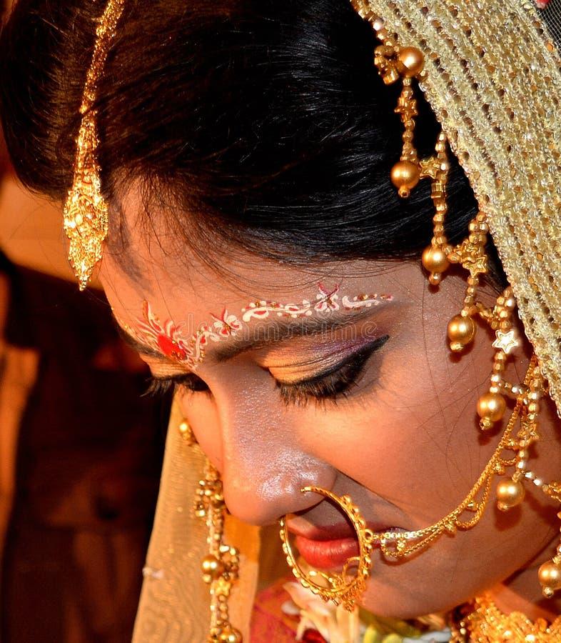 Bengaalse Schoonheid in Huwelijk royalty-vrije stock fotografie