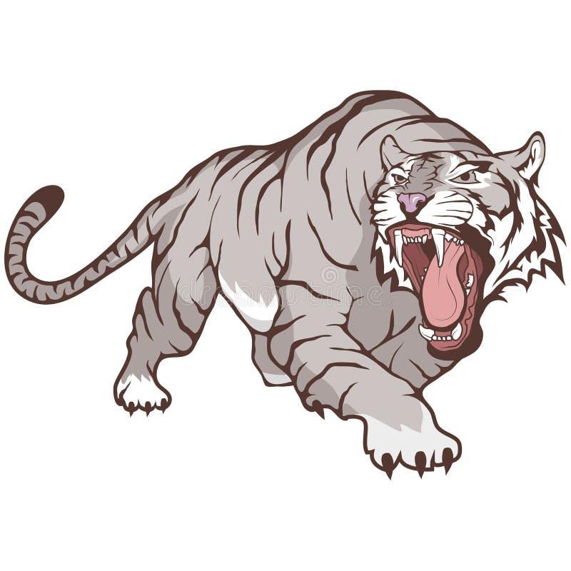 bengal biały tygrys ilustracja wektor