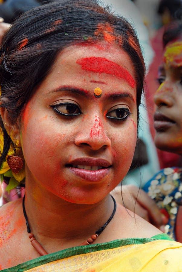 bengal festivalholi västra india arkivbild