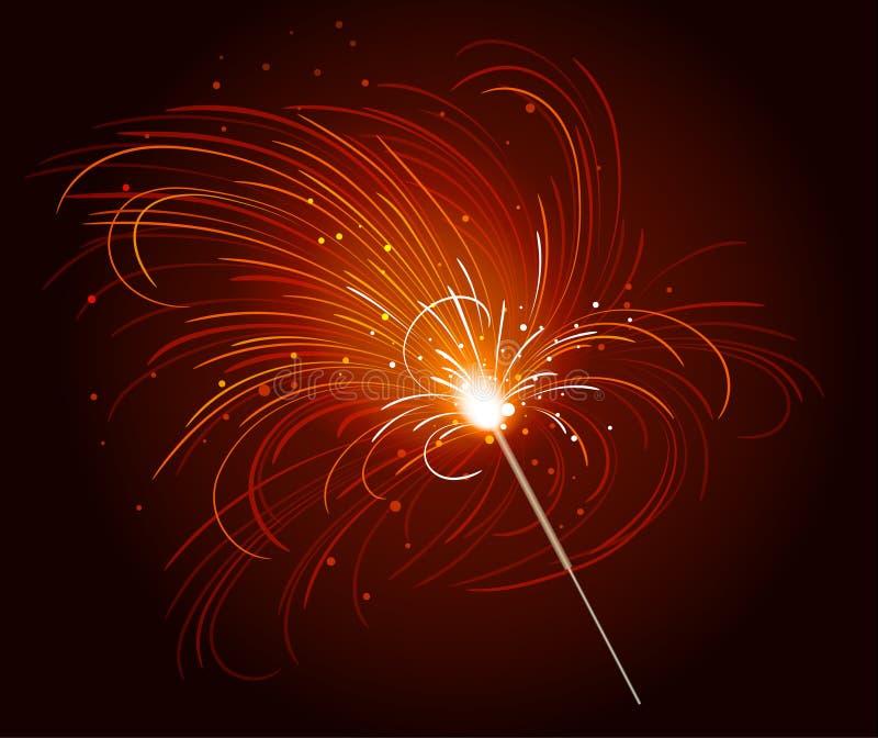 bengal ogień ilustracja wektor