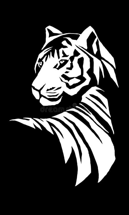 Bengal-Tiger-Abbildung stock abbildung