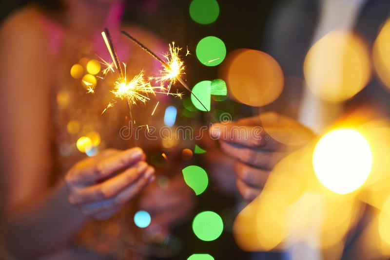 Bengalas festivas imagen de archivo libre de regalías