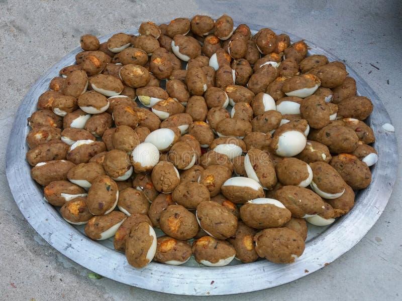 Bengalczyk przekąski Jajeczny diabeł, Dimer diabeł, Dimer kotlecik, Jajeczny diabeł, Jajeczny kotlecik fotografia stock