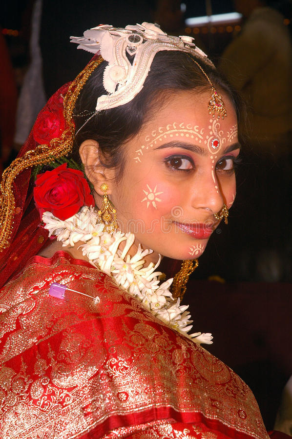 Bengalese che wedding i rituali in India immagine stock