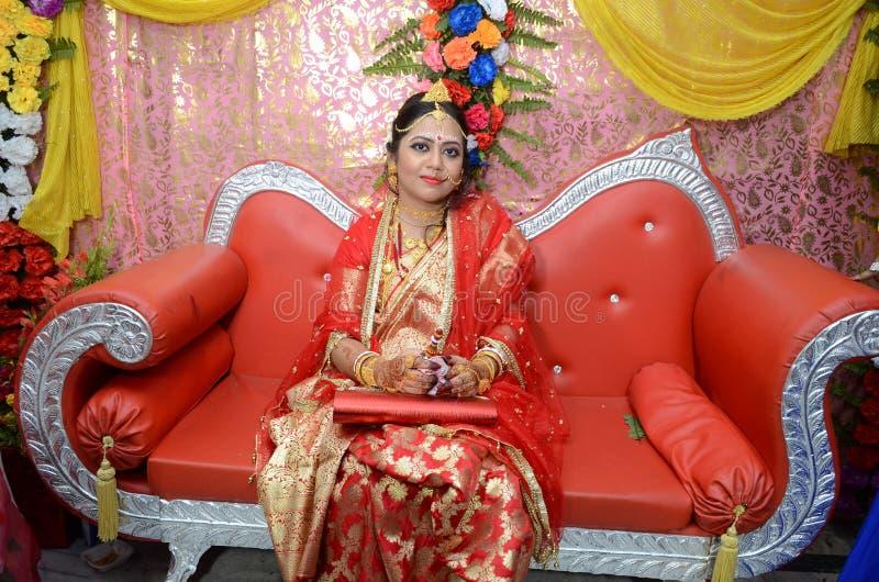 Bengali-Braut lizenzfreie stockbilder