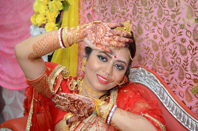 Bengali-Braut stockfotografie