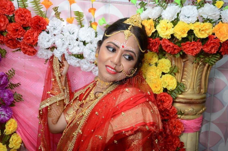 Bengali-Braut stockfotos