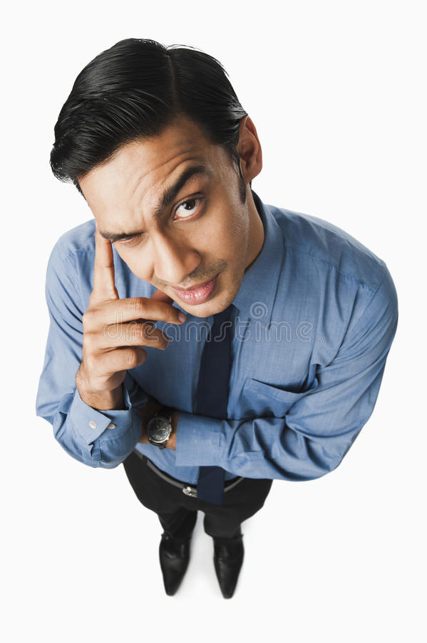 Free Bengali Businessman Thinking Stock Photography - 36256212