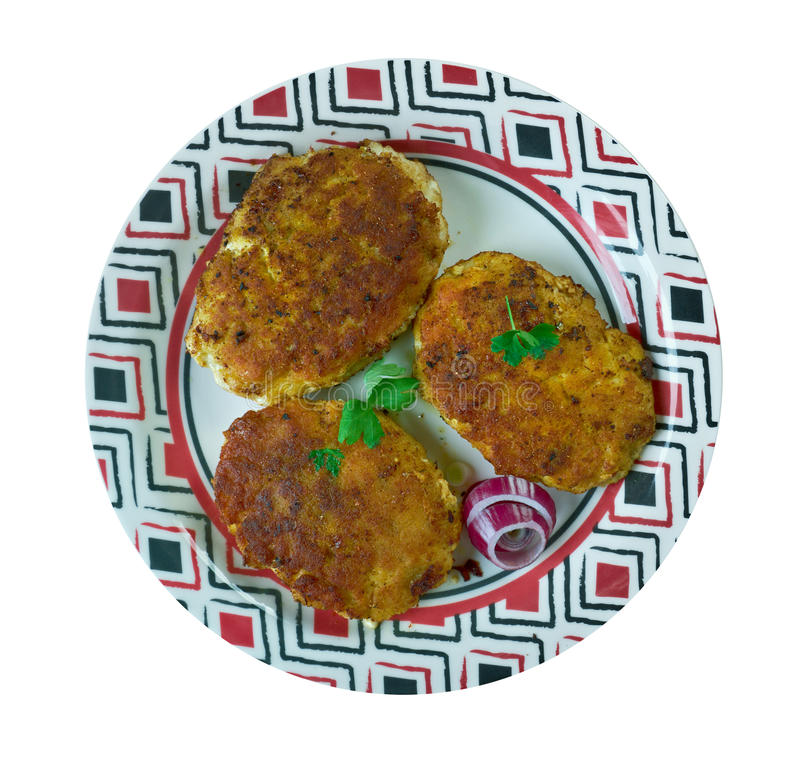 Bengali Cod Fish Kebabs. Indian Tandoori Fish stock images