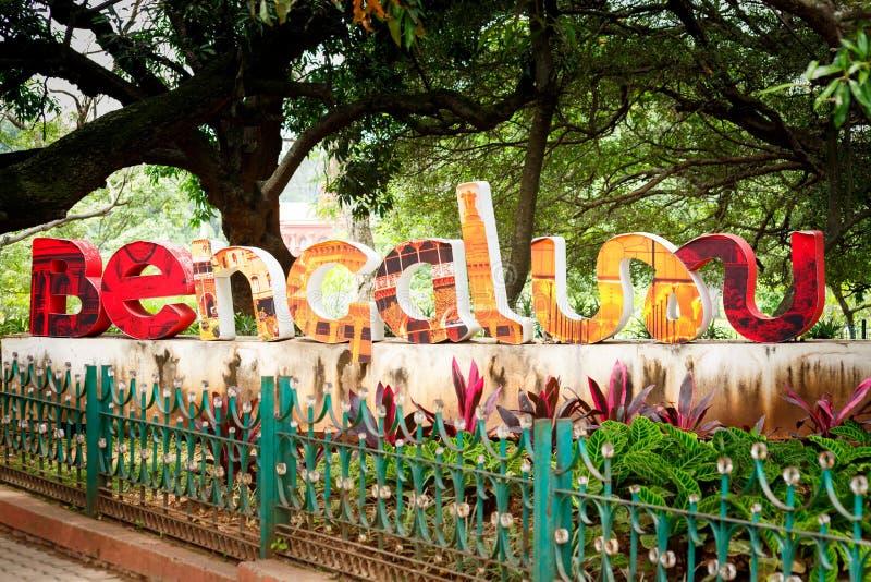 Bengaluru sign, India. Bengaluru sign, colorful text in India stock image