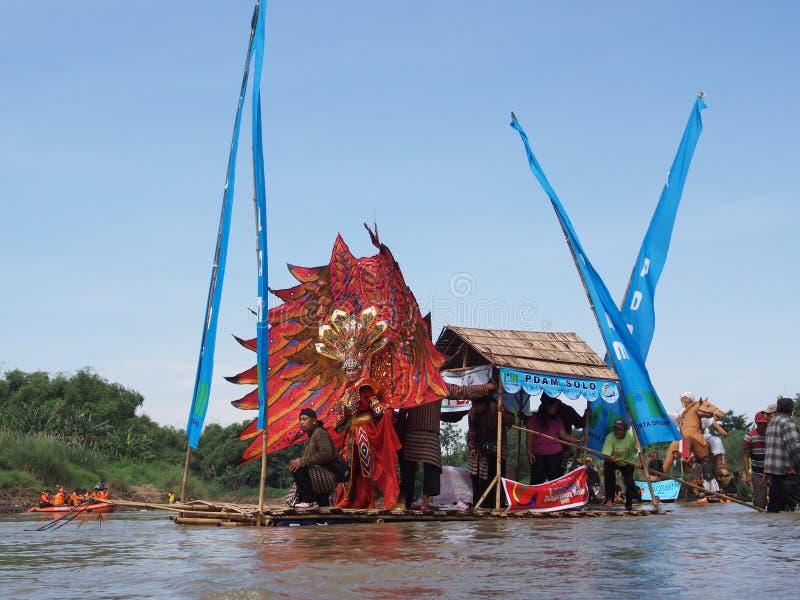 Bengawan Solo Gethek Festival royalty free stock photos