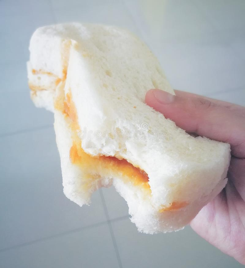 Benggali Bread. Penang's very own roti benggali, a fragrant loaf bread with its signature golden, crispy crust and soft, fluffy white crumb, has been a royalty free stock photos