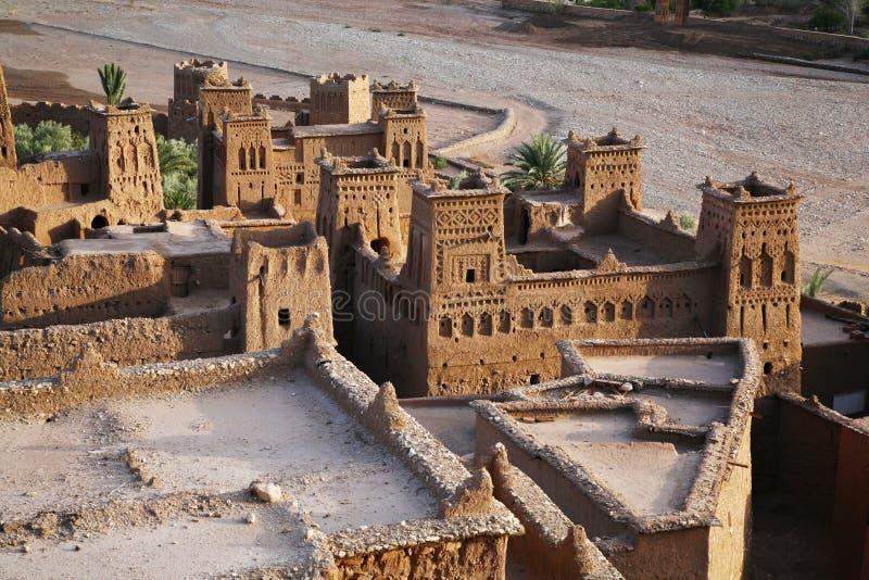 Benhaddou van Kasbah AIT vanaf bovenkant royalty-vrije stock afbeeldingen