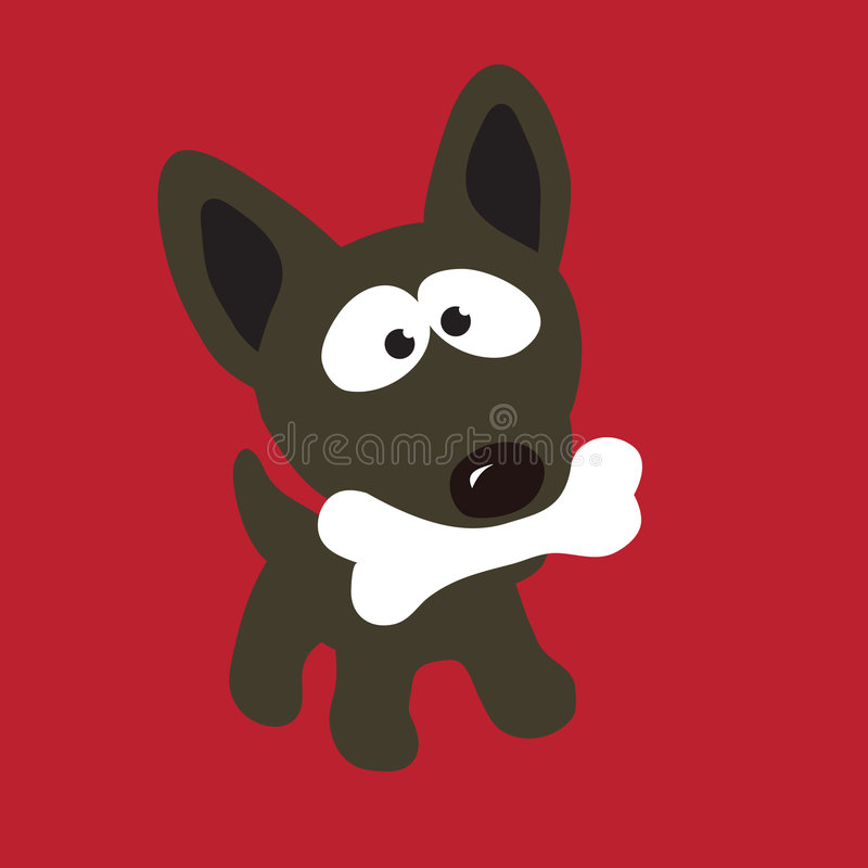benhund royaltyfri illustrationer