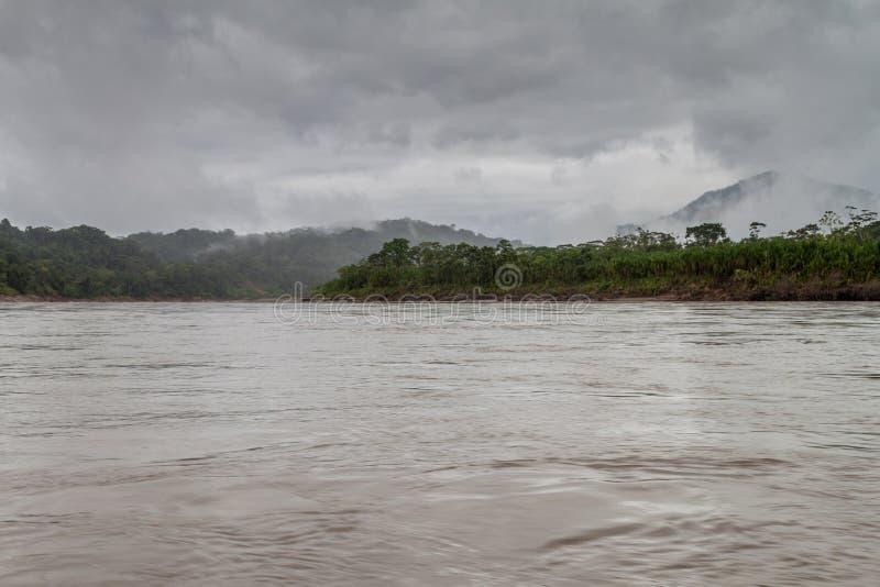 Beni river. In National Park Madidi, Bolivia royalty free stock photos