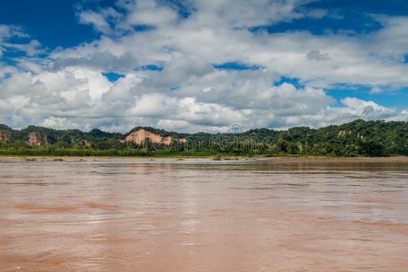Beni river. In National Park Madidi, Bolivia royalty free stock images