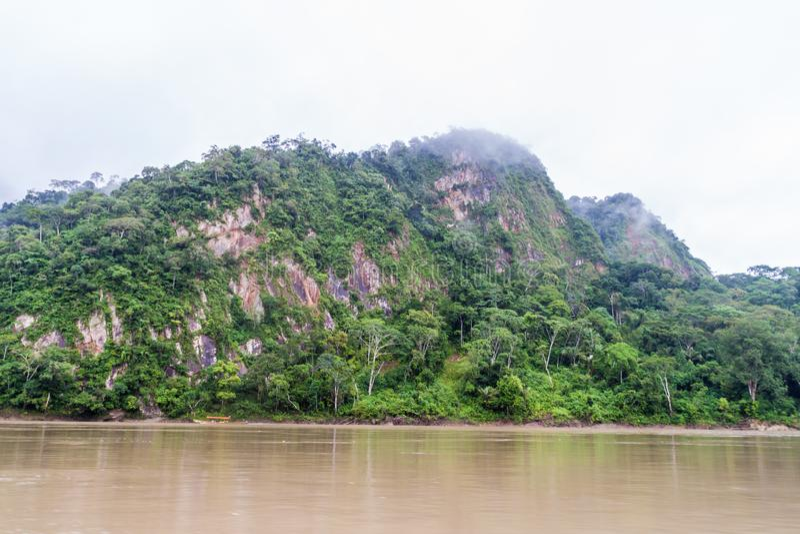 Beni river. In National Park Madidi, Bolivia stock images