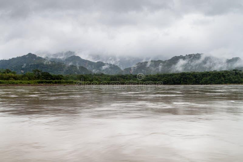 Beni river. In National Park Madidi, Bolivia royalty free stock photo