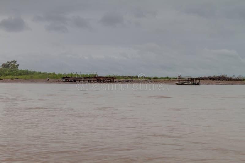 Beni river. Near Rurrenabaque, Bolivia royalty free stock images