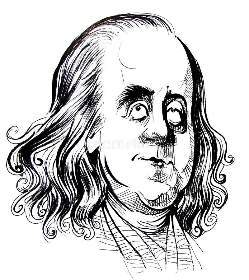 beniamin karykatura Franklin ilustracji