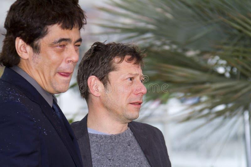 Benicio del Toro e Mathieu Amalric foto de stock