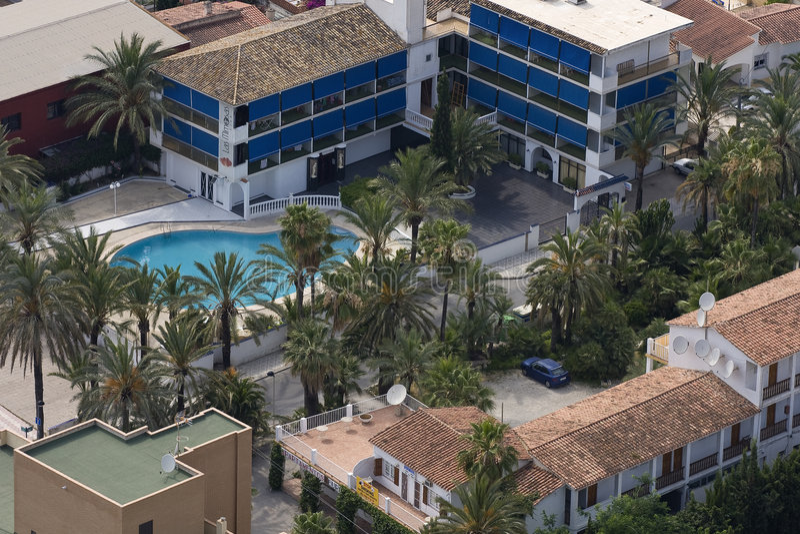 benidorm ξενοδοχείο κοντά στο έ&del στοκ φωτογραφία