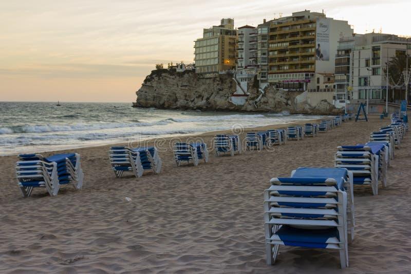 Benidorm παραλία στοκ εικόνα