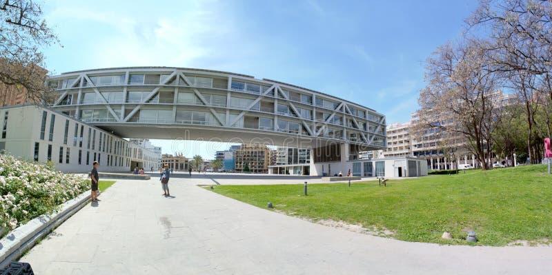 benidorm, Alicante, Spain; 2019-04-29: Panoramiczny urząd miasta Benidorm w Alicante, Hiszpania obrazy stock