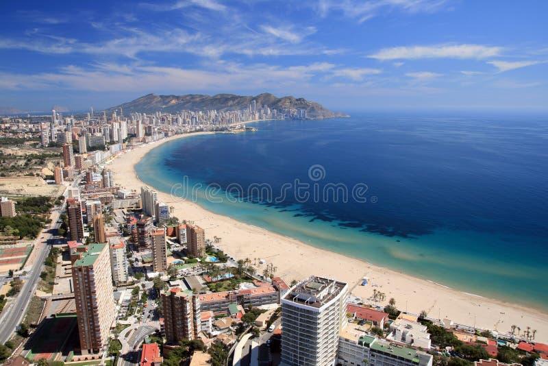 Benidorm Bay. Buildings in Benidorm city, Alicante stock photos