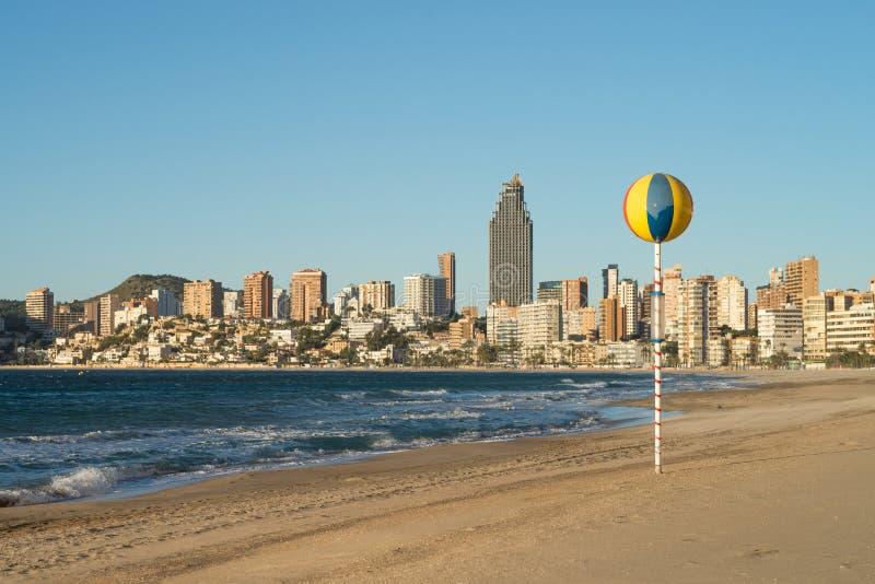 Download Benidorm beach resort stock image. Image of europe, costa - 28866677