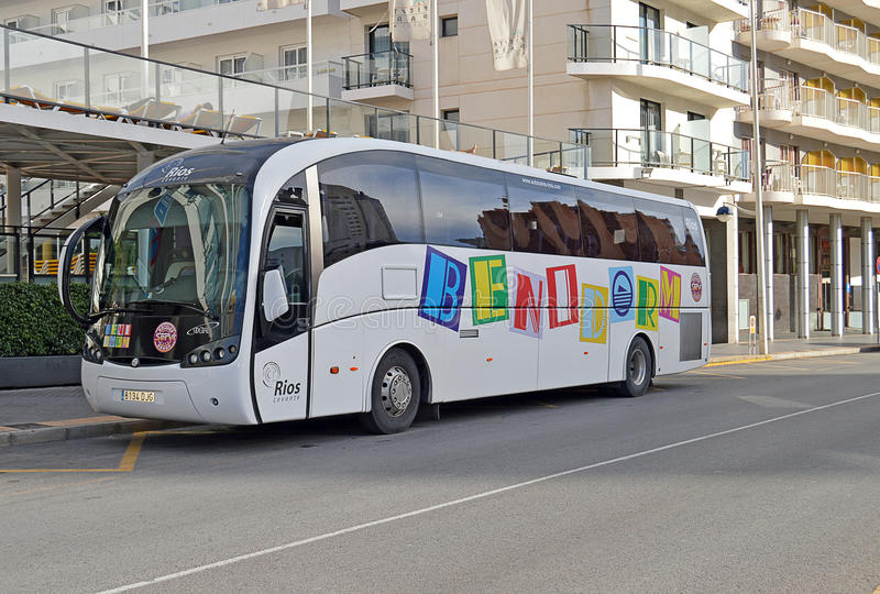 Benidorm Bus royalty free stock photography