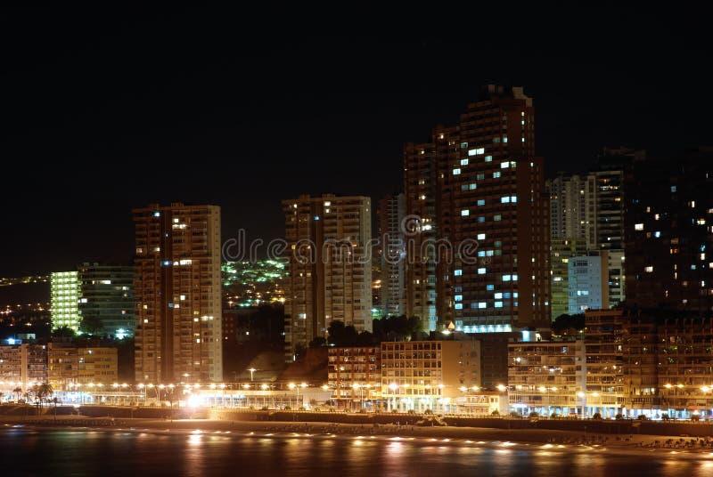 Benidorm la nuit photographie stock libre de droits