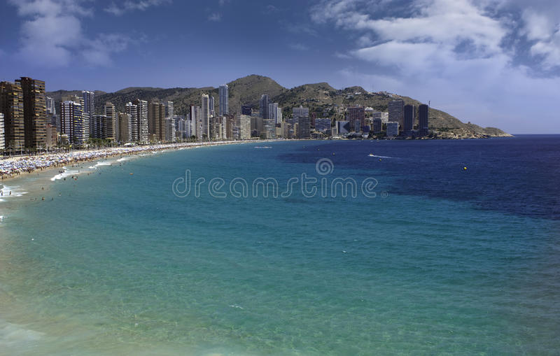 Benidorm levante παραλία στοκ φωτογραφία με δικαίωμα ελεύθερης χρήσης
