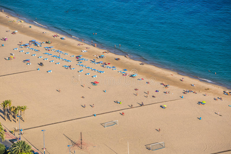 Benidorm Levante plaża w Alicante Hiszpania zdjęcie royalty free