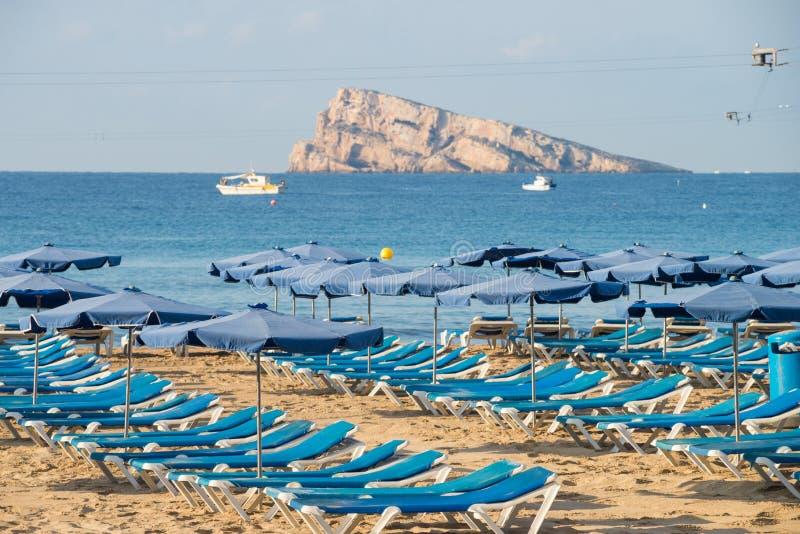 Benidorm plaża zdjęcie stock