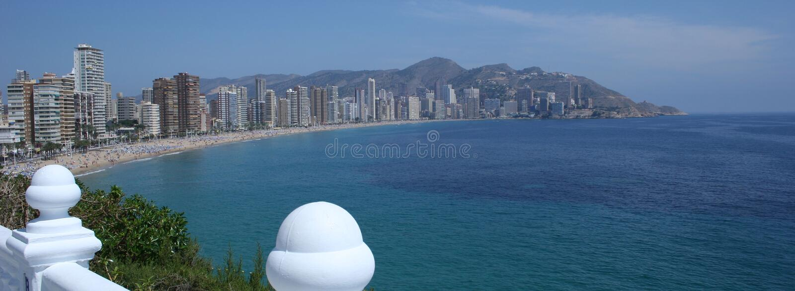 Benidorm Sea Front royalty free stock photography