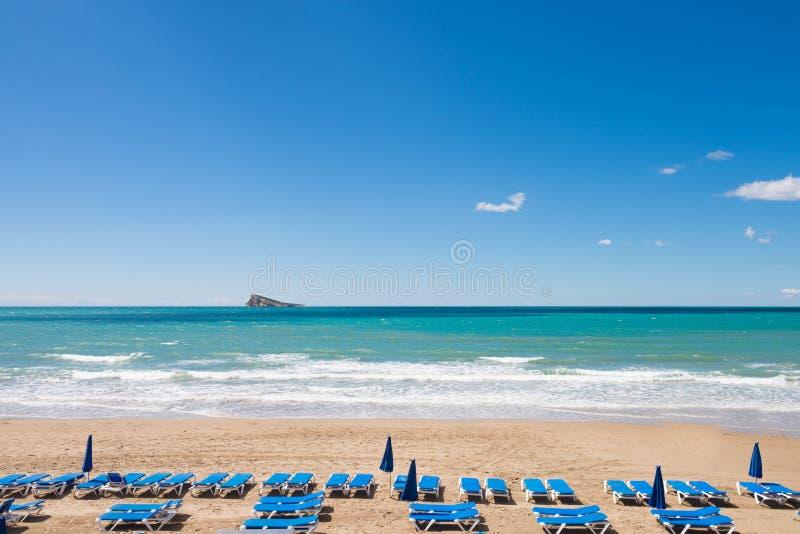 Benidorm strand royalty-vrije stock afbeelding