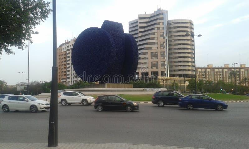 Beniferri blåttstaty Valencia royaltyfri fotografi