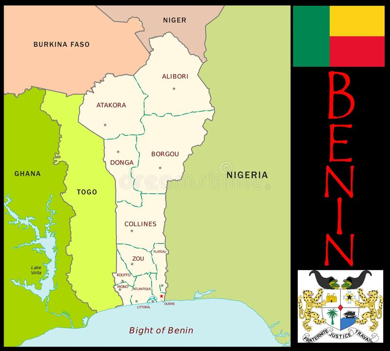 Benin Administrative Divisions Stock Illustration Illustration of